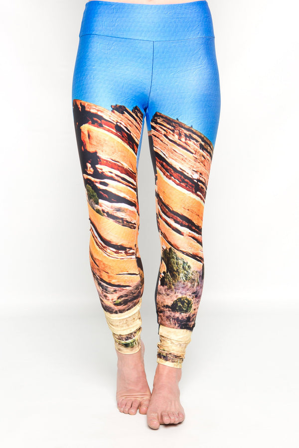 Women's leggings made in Colorado - Fearless - Red Rocks - 1