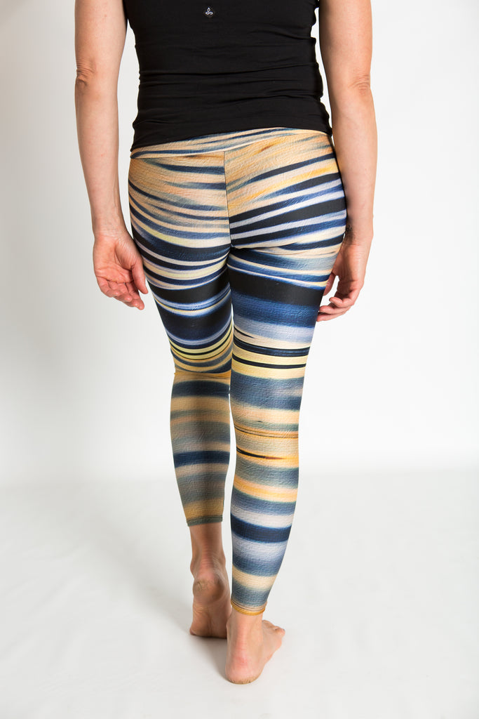 Women's leggings made in Colorado - Reflection Lake Sunset - 4