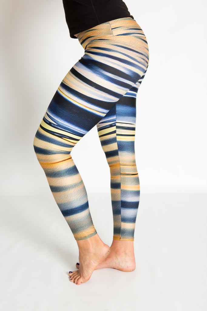 Women's leggings made in Colorado - Reflection Lake Sunset - 2