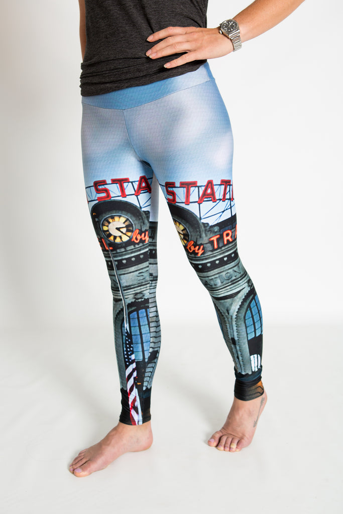 Women's leggings made in Colorado - Monumental  - Union Station - 1