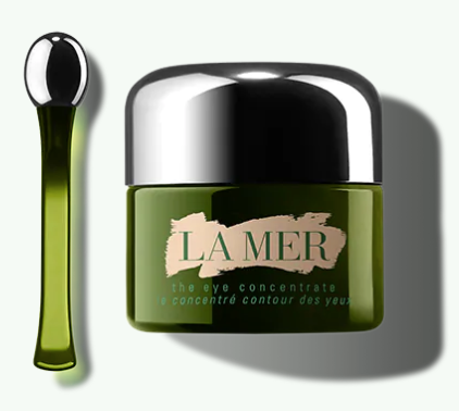 La mer eye concentrate cream with a spoon