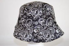 Load image into Gallery viewer, Faux Leather Floral Bucket Hat