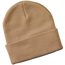 Load image into Gallery viewer, Long Knitted Cuffed Beanie Hat