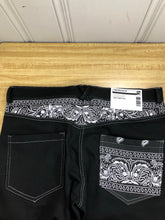 Load image into Gallery viewer, Black Paisley Jeans