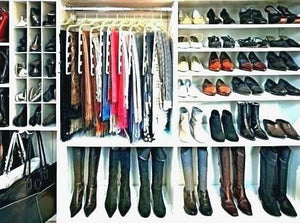 Tiles Closet Shoe Storage Ideas