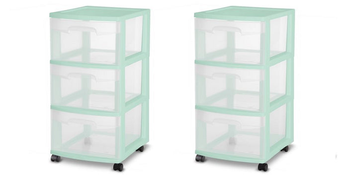 Walmart: 3 Drawer Cart Case of 2 Only $14.30!