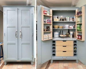 Out Of The Ordinary Kitchen Pantry With Microwave Shelf