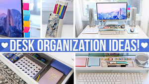 Easy office and desk organization ideas