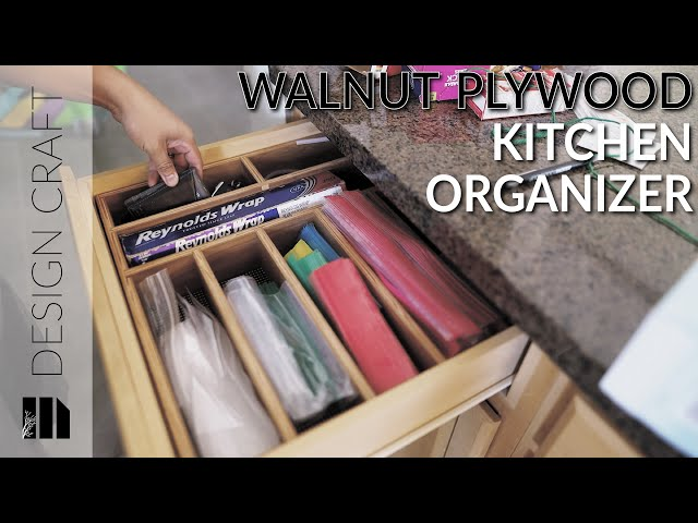 We use this kitchen drawer as a small everyday drawer and it needs a little organization