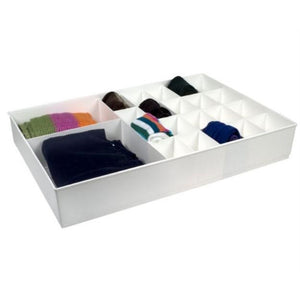 Large Cubicles Divided Drawer Organizer - White