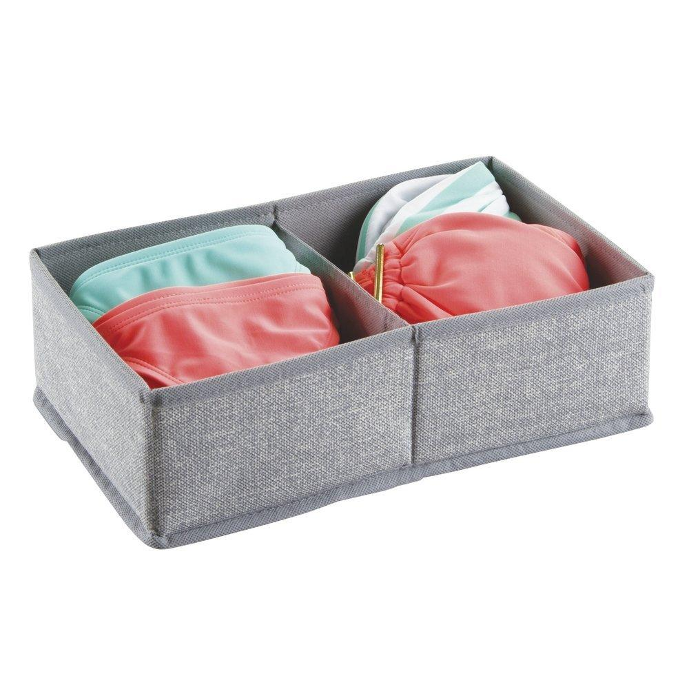 Fabric Drawer Organizer 2 Compartments Small