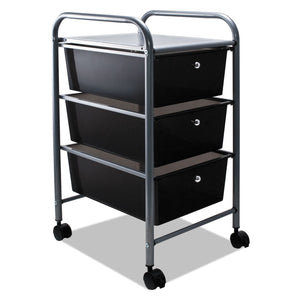 Advantus Portable Drawer Organizer, 13w x 15 3/8d x 25 7/8h, Smoke/Matte Gray
