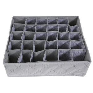 Bamboo Charcoal Underwear Socks Foldable Drawer Organizer Storage 30 Cell