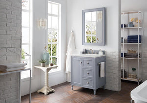 "Copper Cove Encore 30"", James Martin Silver Grey Bathroom Vanity"