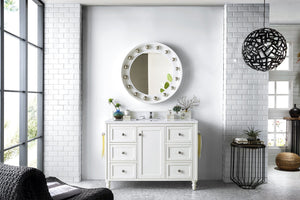 "Copper Cove Encore 48"", James Martin Bright White Bathroom Vanity"