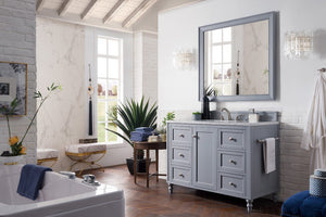 "Copper Cove Encore 48"", James Martin Silver Grey Bathroom Vanity"
