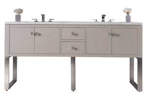 "72"" Westlake Double Bathroom Vanity, Mountain Mist"