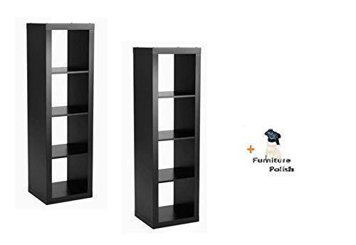 Get officesaleman better homes and gardens 4 cube organizer storage bookcase bookshelf solid black 4 cube 2 pack freebie