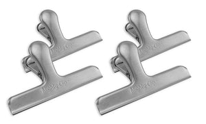 "Dimension MightyClip Mega Clip 6"" Jumbo Stainless Steel Bag Clips, Set of 4"