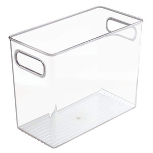 Shop here mdesign plastic home office storage organizer bin with handles container for cabinets drawers desks workspace bpa free for pens pencils highlighters notebooks 5 wide 8 pack clear
