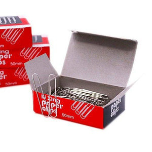 Taoya Paper Clips Office Clamps Jumbo Smooth Economy 4 Boxes, 100piece/Box (400 Piece Total) Silver 2 inch (50 mm) (Large)