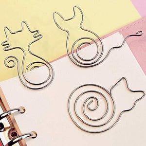Cute Paper Clips-12 Pieces Stainless Steel Paperclips. Different Funny Animal Shape paper Clips Bookmark, Page Marker for Office School Supplies -Gifts Idea for Kids and Girls
