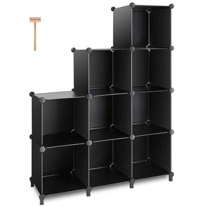 The best tomcare cube storage 9 cube closet organizer shelves plastic storage cube organizer diy closet organizer storage cabinet modular book shelf shelving for bedroom living room office black