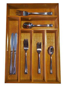 Drawer Organizer - This Durable Wood Cutlery Tray Is Large Enough for Your Silverware, Utensils, or Gadgets - By JA Kitchens