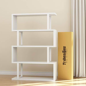 Get tribesigns 4 shelf bookcase modern bookshelf 4 tier display shelf storage organizer for living room home office bedroom white