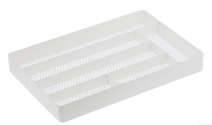 Tower Mesh Cutlery Drawer Organizer White