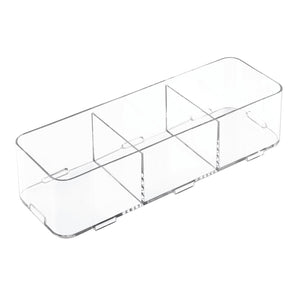 "Clarity 12"" Interlocking 3S Divided Drawer Organizer"
