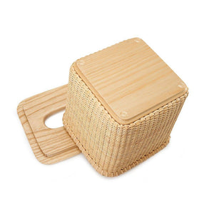 Discover the tengtian nantucket basket extraction paper basket tissue boxtoilet paper storage containers paper towel holders woven rattan handwoven square rattan tissue box cover office kitchen bath livingoak