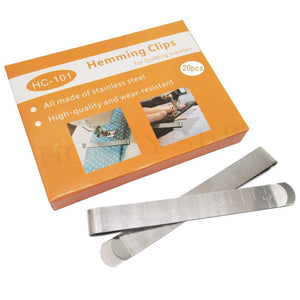 HONEYSEW Quilting Clips Box of 20 Stainless Steel Hemming Clips 3 Inches Measurement Ruler Sewing Clips for Wonder Clips Pinning and Marking Sewing Project
