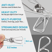 Chip Clips Chip Clips for Bags All-Purpose Air Tight Seal Good Grip Clips Cubicle Hooks for Office School Home Kitchen (20 pack-6cm)
