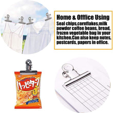 "Chip Bag Clips Food Clips Heavy Duty Clips for Bag Cloth Silver All-Purpose Air Tight Seal Good Grip Clips Cubicle Hooks Clips 2.16"" Wide Clips Hinge Clamp File Binder Clips Office Home (20 Pack)"