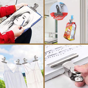 Chip Clips,Heavy Duty Thicker Metal Chip Bag Clips,Paper Clips Clamps,Grip Clips for Kitchen Office (12 PCS, 3 inch)