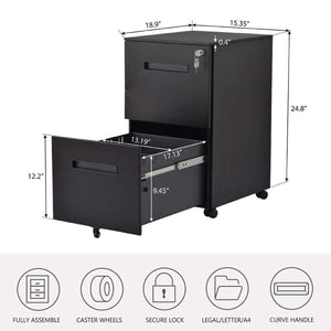 Shop here file cabinet mobile 2 drawer metal pedestal filing cabinets with lock key 5 rolling casters fully assembled home office modern vertical hanging folders a4 letter legal size