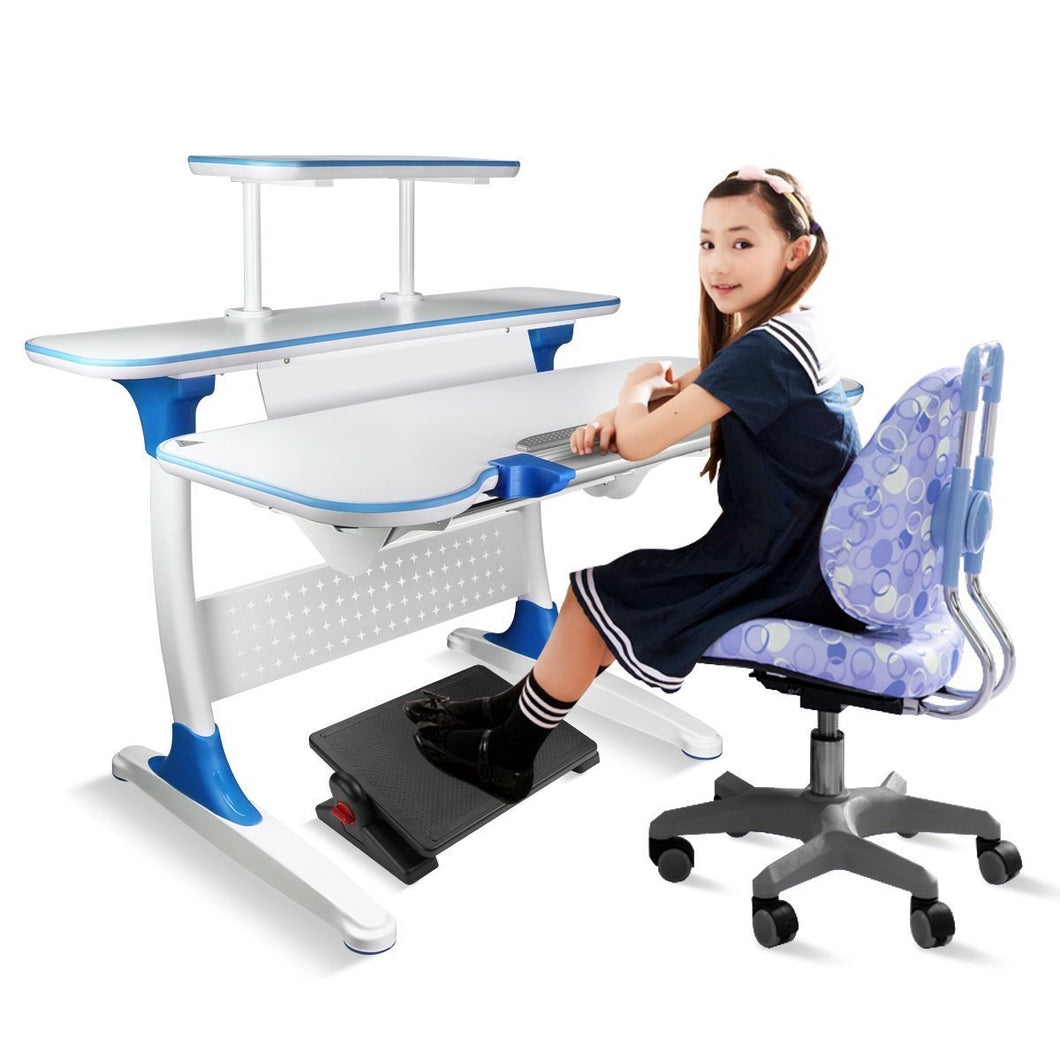 Amazon uktunu computer writing desk childrens desk height adjustable kids student school study table work station with storage for home office dormitory room
