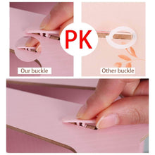 Save 5 sections assembly file sorter buckle design office wood file organizer document desktop folder for home students diy organization fan shaped mail letter desk file holder pink
