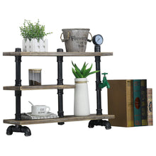 On amazon mbqq 3 tier industrial pipe wood shelf desk organizer 24 office organization and storage shelf desktop display shelves flower stand kitchen shelf countertop bookcase desktop racks