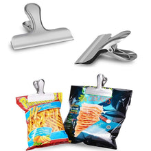 Chip Bag Clips 3 Inches Wide Stainless Steel Chip Clips for Bread Coffee Food Bags,Office School Kitchen Home Usage Clips(6 Pack)