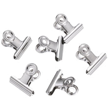 Blulu 1.25 Inch Metal Hinge Clips, Chip Clips Bag Clips Hinge Clamp File Binder Clips for Home Office Supplies, 50 Pack (Silver)