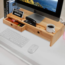 On amazon computer monitor stand with drawers wood tv screen printer riser 22 05l 10 60w 4 70h inch desk organizer in home office