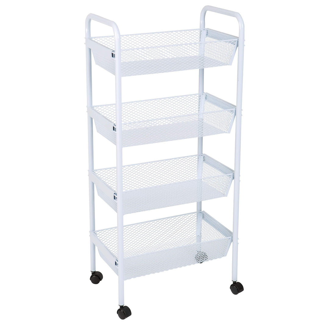 Amazon kitchen details simplify 4 drawer rolling utility storage cart organizer good for pantry office craft room garage closet classroom more 4 tier