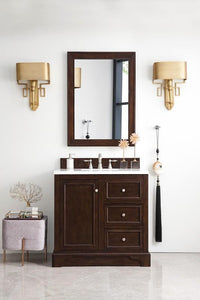"De Soto 36"", James Martin Burnished Mahogany Bathroom Vanity"