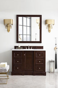 "De Soto 48"", James Martin Burnished Mahogany Bathroom Vanity"