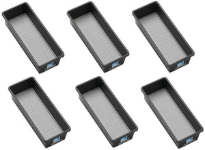 "(6) ea Madesmart 95-29693-06 9"" x 3"" x 2"" Granite Drawer Storage Organizer Bins"