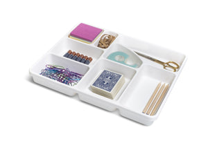 Junk Drawer Organizer In White