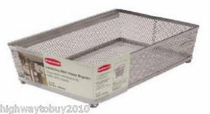 "(18) Rubbermaid 1F80-00 TITNM 6"" x 9"" Metal Mesh Drawer Organizer Bins"