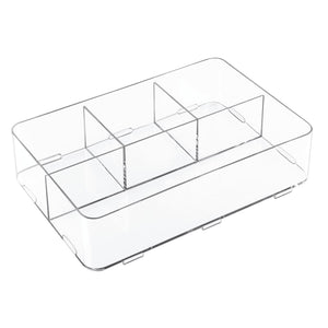 "Clarity 12"" Interlocking 4S Divided Drawer Organizer"